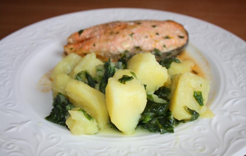 Гарнир со шпинатом