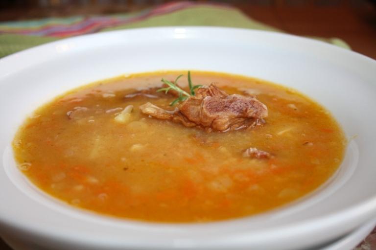 Суп гороховый с копчеными ребрышками пошаговый рецепт с в мультиварке